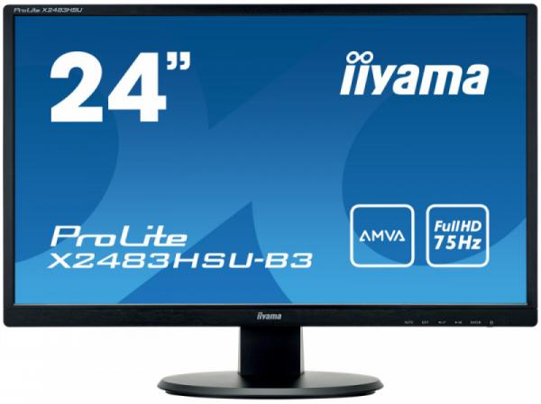 """Monitor IIYAMA 23.8"""" 1920 x 1080 ProLite X2483HSU-B3 Czarny"""