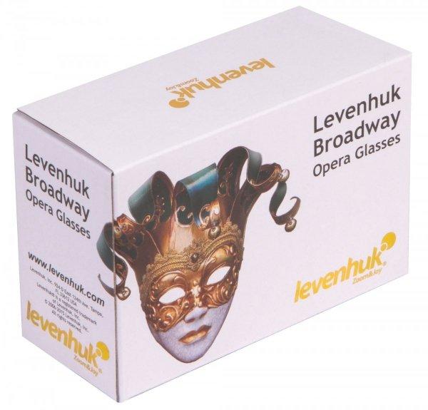 Lornetka teatralna Levenhuk Broadway 325F (czerwona z oświetleniem LED i łańcuszkiem)