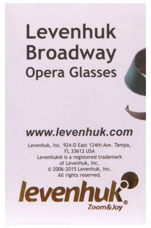 Lornetka teatralna Levenhuk Broadway 325N (czerwony lorgnon z oświetleniem LED)