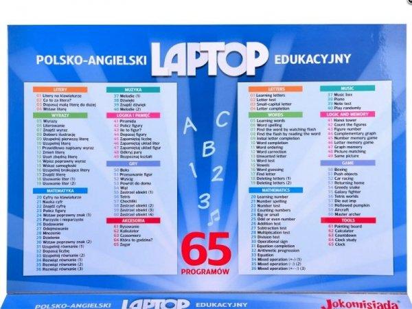 LAPTOP EDUKACYJNY 65 PROGRAMÓW POLSKI ANGIELSKI