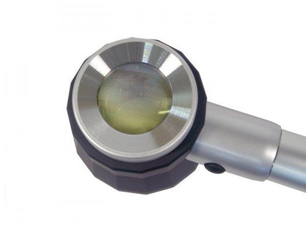 Lupa Levenhuk Zeno 700 z podświetleniem LED, 10x, 30 mm, metalowa