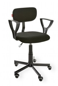 Krzesło laboratoryjne z podłokietnikiem Black 01 PD WH RKW-12