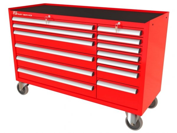 Wózek narzędziowy MEGA z 13 szufladami PM-214-19