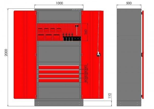 Szafa warsztatowa M-3-01-00