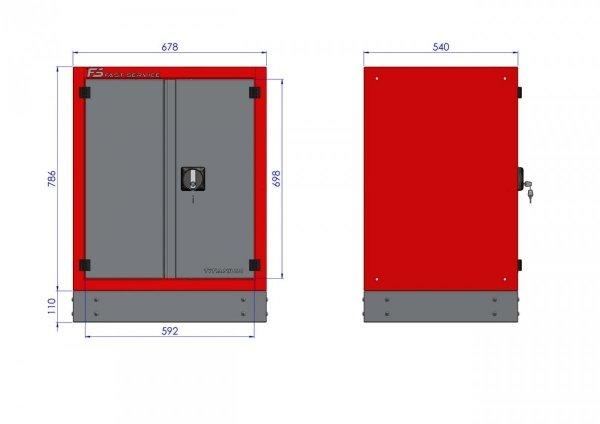 Szafka warsztatowa z drzwiami – T-40