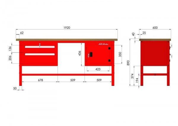 P-3-103-01 Stół warsztatowy