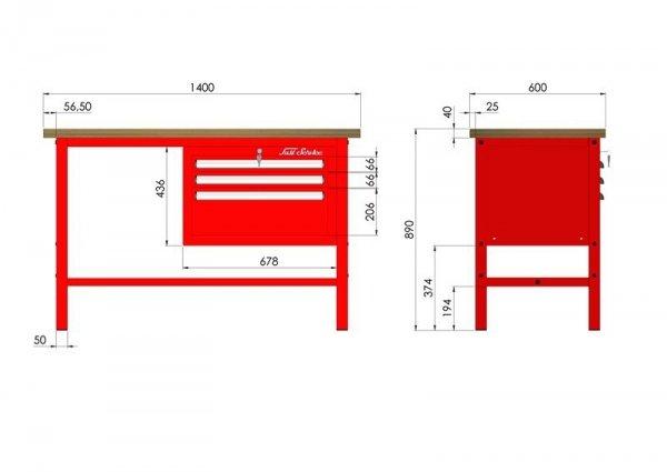 stół narzędziowy wymiary