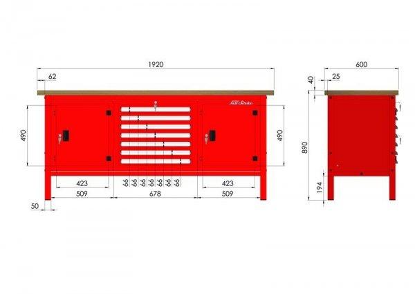 P-3-174-01 Stół warsztatowy