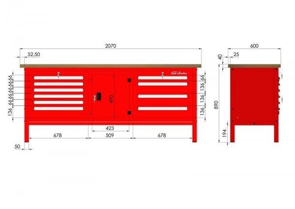 P-3-163-01 Stół warsztatowy