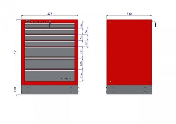 Szafka warsztatowa z 7 szufladami – T-13 - Centrum Warsztatowe