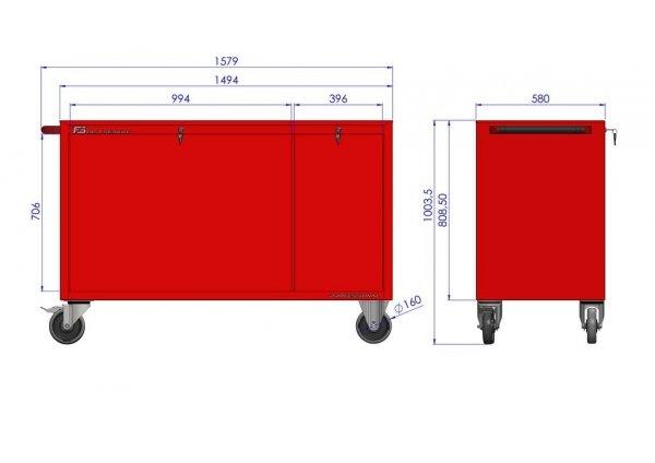 Wózek warsztatowy MEGA z 15 szufladami PM-211-17