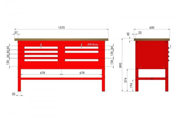 P-3-032-01 Stół warsztatowy