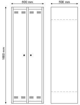Szafa BHP dla 1 osoby / dwudrzwiowa S-2-02-00