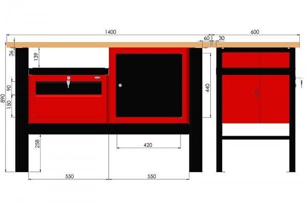Stół warsztatowy N-3-12-01