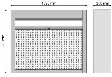 Gablota narzędziowa zamykana roletą PCV P-4-04-04
