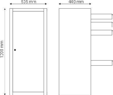 Szafa narzędziowa 1 drzwiowa S-3-03-00