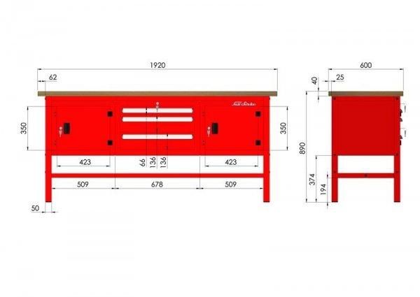 P-3-12-01 Stół warsztatowy