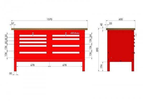 P-3-061-01 Stół warsztatowy