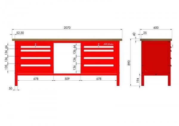 P-3-13-01 Stół warsztatowy