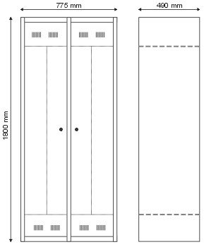 Szafa BHP dla 2 osób S-2-03-00