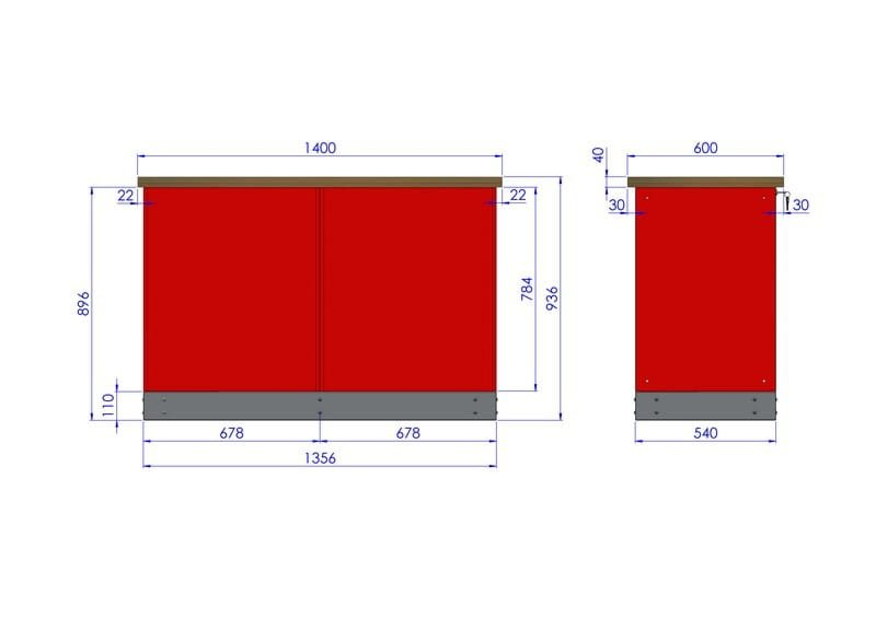 Stół warsztatowy – TK-22-40-01