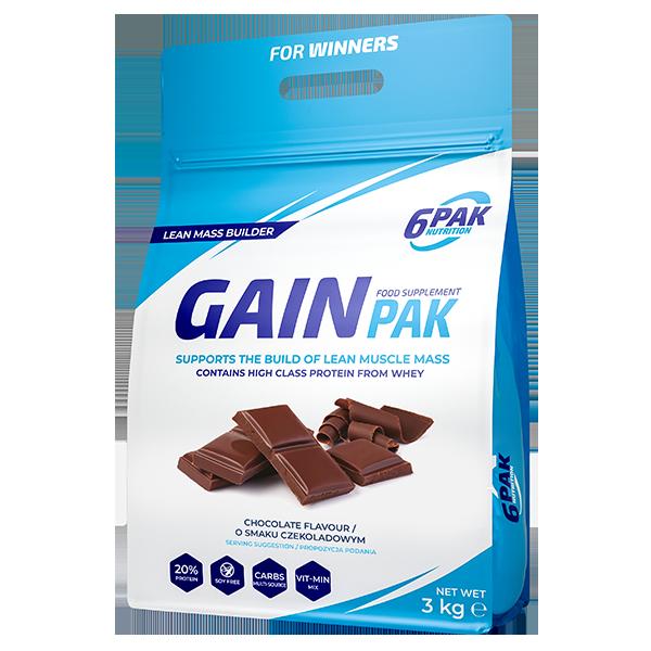 6PAK Nutrition Gain PAK 3000g smak czekolada