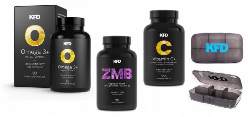 KFD Zestaw Gold Omega 3 + ZMB + Vitamina C+Gratis