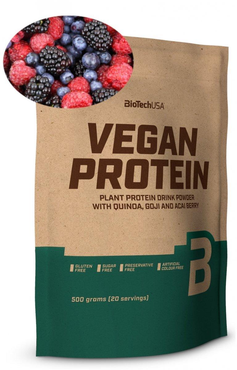 BioTech Vegan Protein 500g  owoce leśne