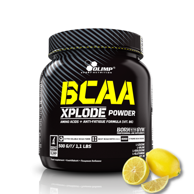 Olimp BCAA Xplode Powder 500g Aminokwasy smak cytryna