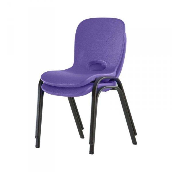 Półkomercyjne krzesło dla dzieci do piętrowania (purpurowy) 80512