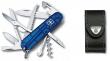 Victorinox Huntsman 1.3713.T2 niebieski przezroczysty + etui