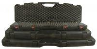 Kufer na broń czarny z zamkiem 125x25x11cm