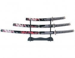 Zestaw Master Cutlery 3 Piece Samurai Sword Set ze stojakiem (SW-78-4)