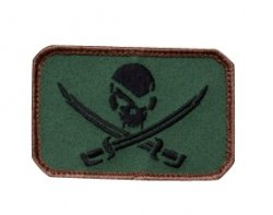 Naszywka Pirate Skull Flag Forest Green