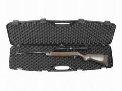 Kufer z zatrzaskiem na broń długą 97x25x10 cm, czarny