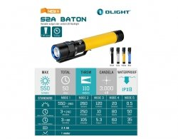 Latarka Olight S2A Yellow - 550lm