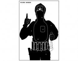 Tarcze sylwetkowe Terrorysta - pakiet 10 szt.