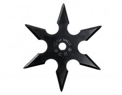 Rzutka Shuriken Ninja Black 6 ostrzy (20883)