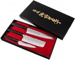 Zestaw noży Tojiro Shippu Black uniwersalny 13cm + nakiri + szefa 21cm
