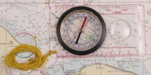 Kompas kartograficzny z linijką MFH