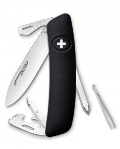 Scyzoryk SWIZA D04 BLACK 2 line Swiss Knife 95mm