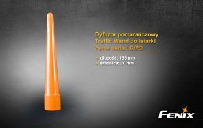Dyfuzor pomarańczowy Fenix Traffic Wand do LD/PD