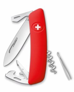 Scyzoryk SWIZA D03 RED 2 line Swiss Knife 95mm