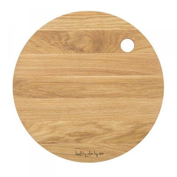 AL - Deska drewniana dębowa okrągla 27cm