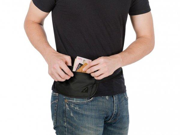 Saszetka antykradzieżowa Pacsafe Coversafe X100 czarna