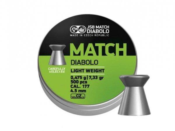 Śrut diabolo JSB Match Light 4,49 mm 500 szt.