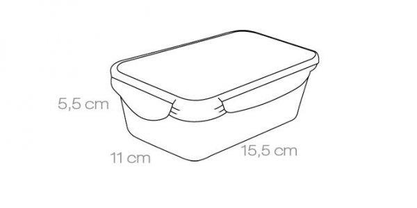 Pojemnik FRESHBOX 0.5 l, prostokątny