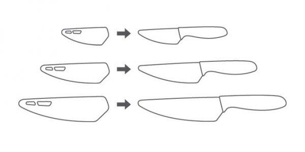 Nóż z ostrzem ceramicznym VITAMINO 15 cm Tescoma