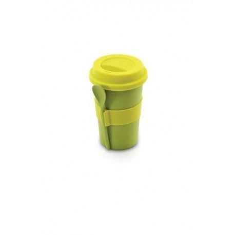Cook kubek do kawy z łyżeczką (zielony)