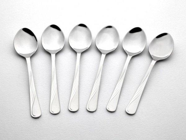 Gerlach Sztućce Celestia - komplet łyżeczek do herbaty 6 szt. dla 6 osób, wysoki połysk
